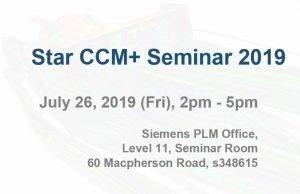 Star CCM+ Seminar 2019