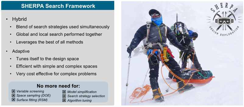 HEEDS software_Sherpa Design Search Framework Strategy