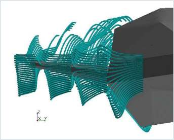 Simcenter STAR-CCM+_cfd marine_current line visualization